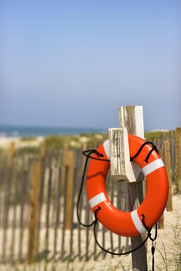 Conservateur de durée sur la plage photographie stock libre de droits