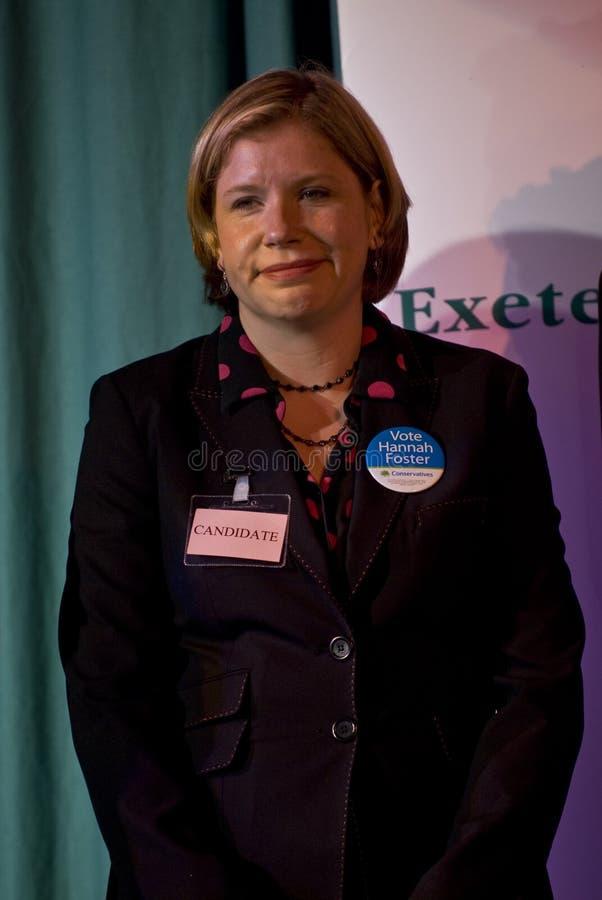 Conservatieve kandidaat, Hannah Foster royalty-vrije stock afbeelding