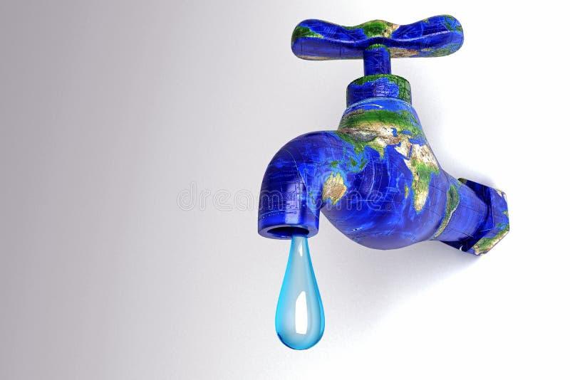 Conservation de l'eau illustration libre de droits