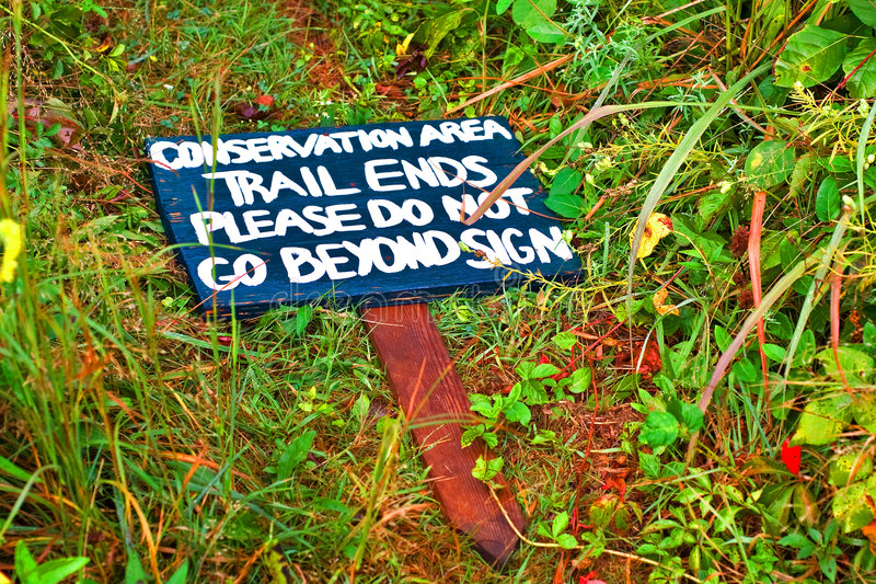 Download Conservation Sign stock image. Image of fallen, plants - 5871719