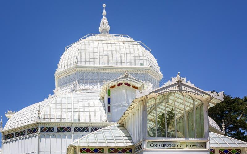 Conservatoire des fleurs, Golden Gate Park images stock