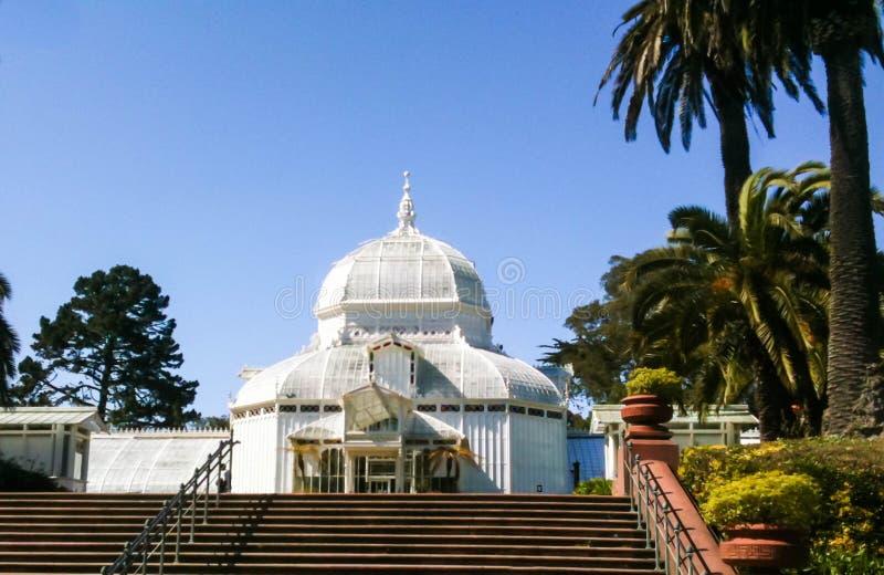 Conservatorio dei fiori, San Francisco, California di Golden Gate Park fotografia stock