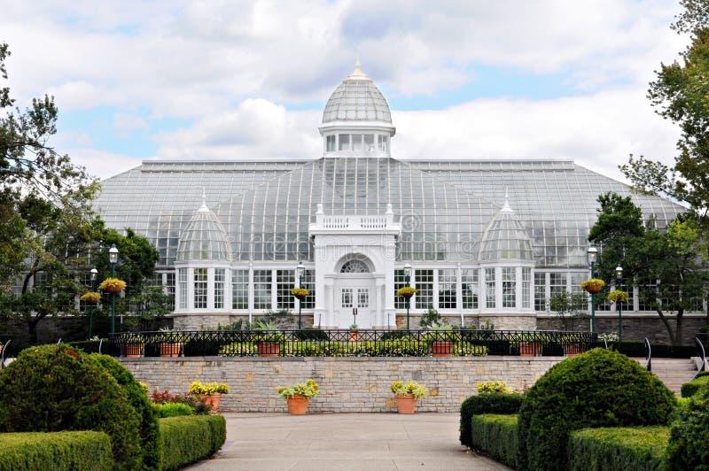 Conservatorio di vetro del palazzo immagini stock