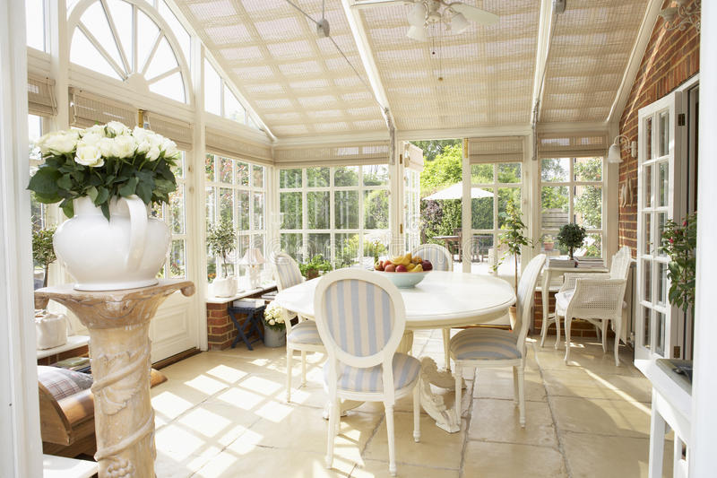 conservatory нутряное самомоднейшее стоковая фотография rf