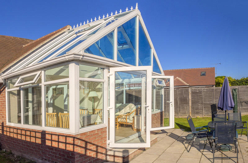 Download Conservatory stock image. Image of back, home, properties - 26521625