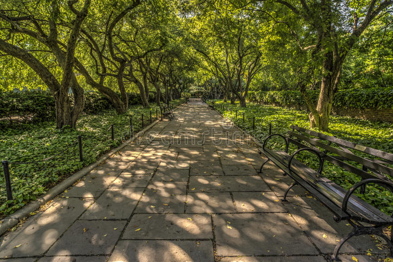 The Conservatory Garden Central Park, New York City Stock Photo