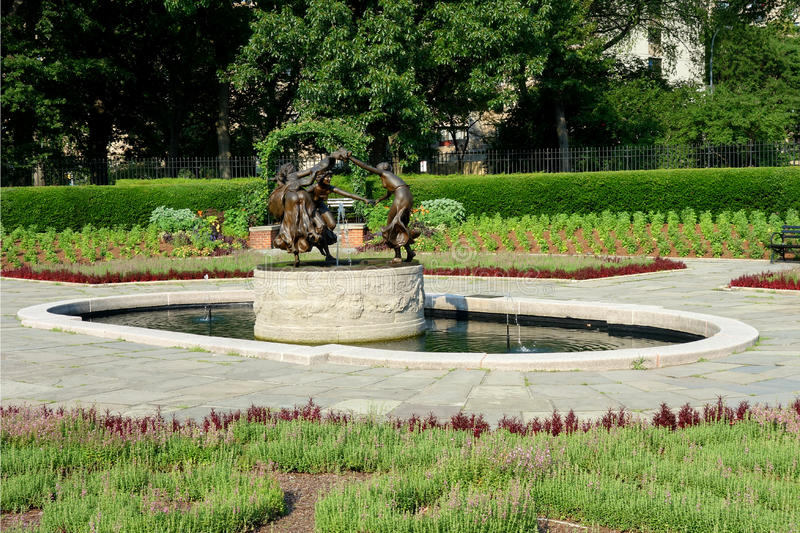 Conservatory Garden in New York City royalty free stock photo