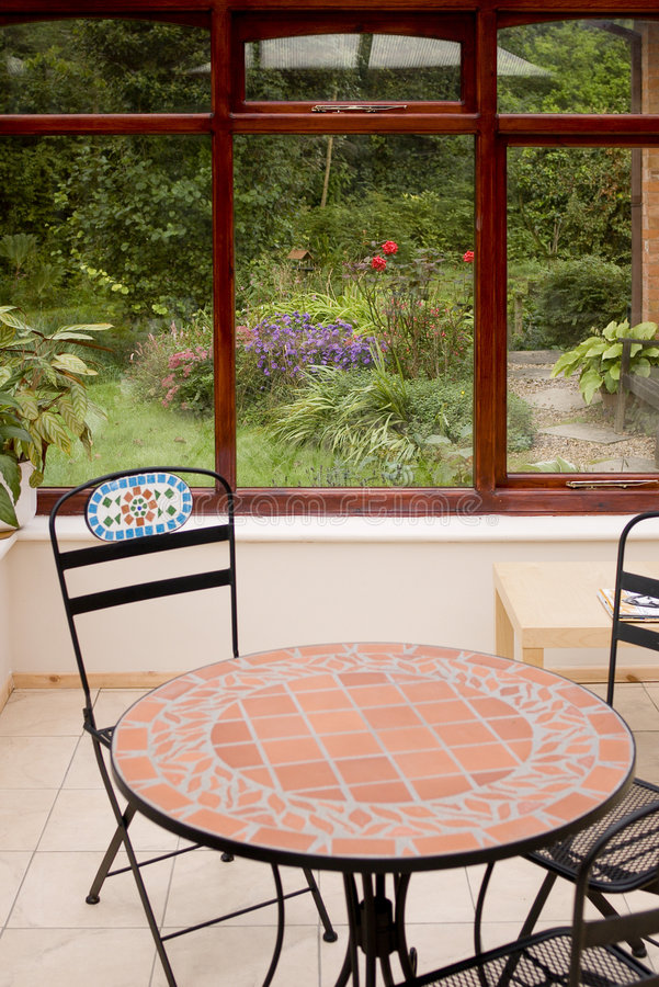 Conservatory interior. Homes houses property improvement stock photos