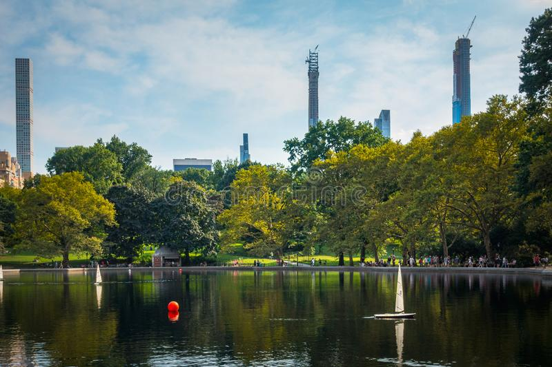 Central Park Conservatory Water royalty free stock photos