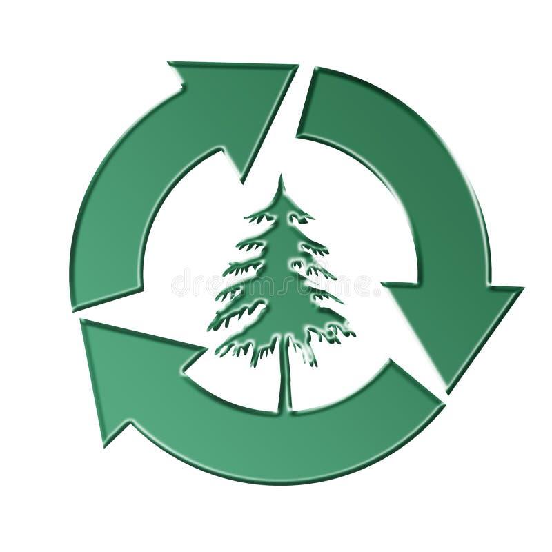 Conservazione degli alberi illustrazione vettoriale