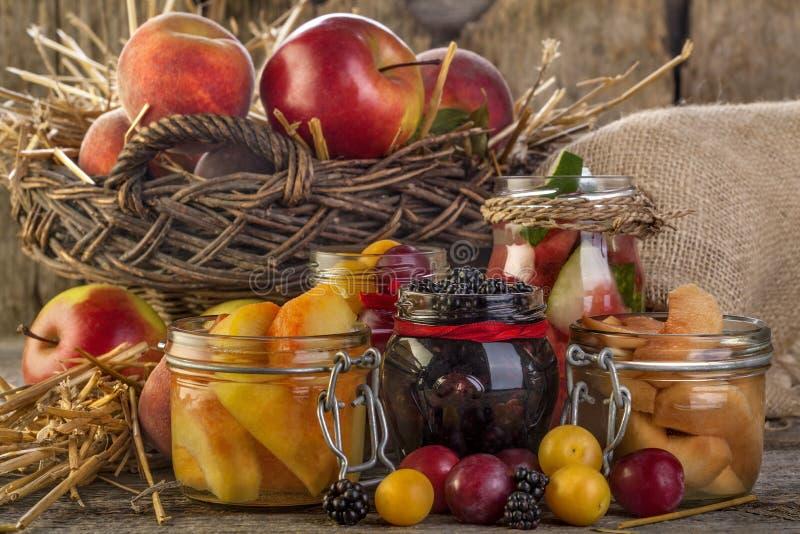 Conservazione della frutta fotografia stock