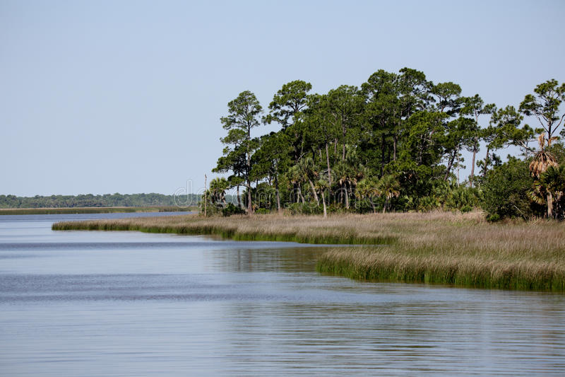 Conserve aquatique de baie d'Apalachicola un jour immobile photos libres de droits