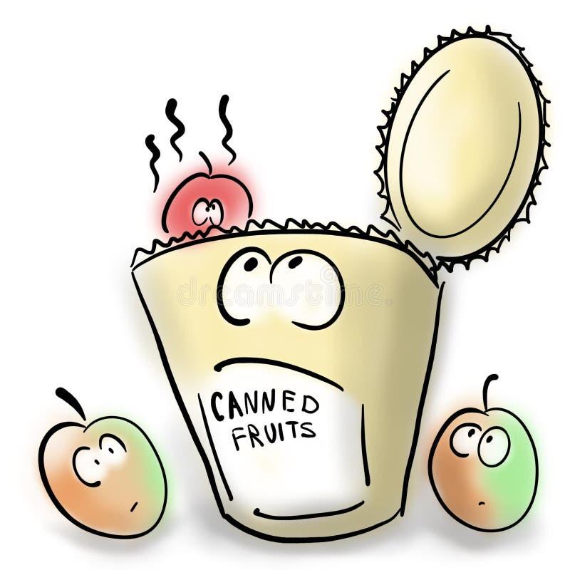 Conserve de fruits et fruits frais illustration libre de droits