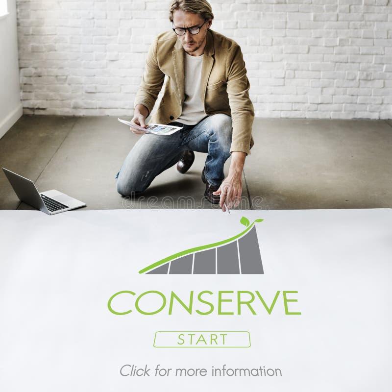 Conserve el concepto de la preservación ambiental de la ecología fotos de archivo libres de regalías
