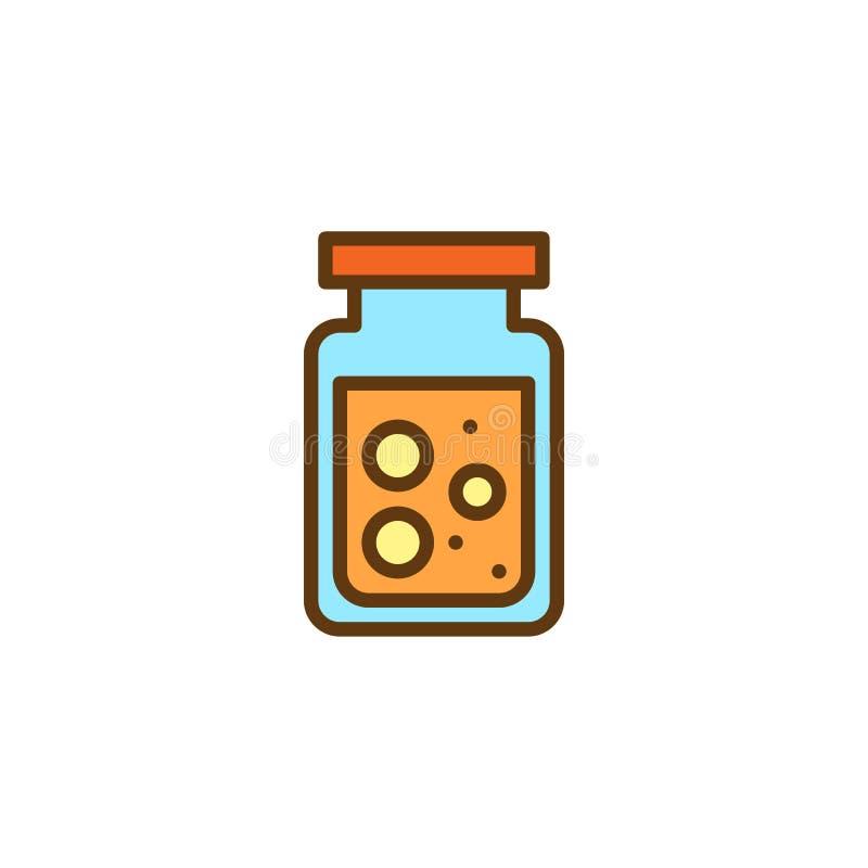 Conserve el icono llenado tarro del esquema libre illustration