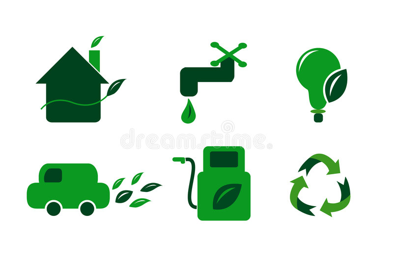 Conserve Icons Stock Photography