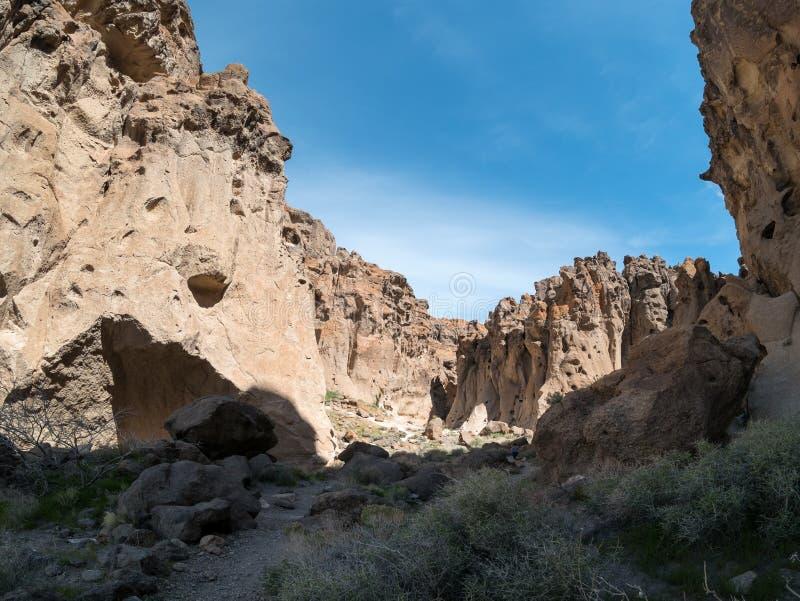 Conserve nationale de Mohave, canyon entrant de dame blanche image stock