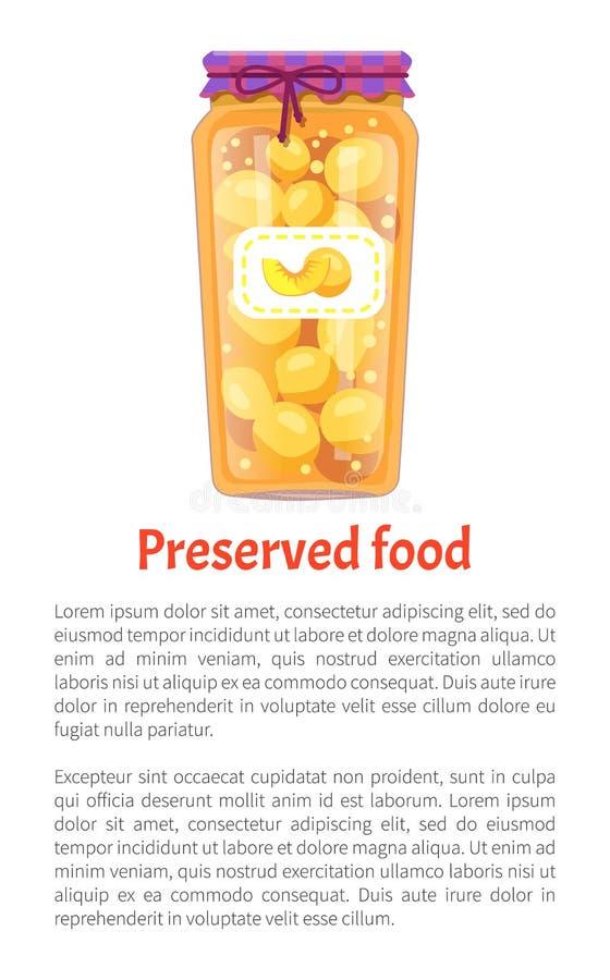 Conserve Peaches Poster Vector Illustration stock illustratie