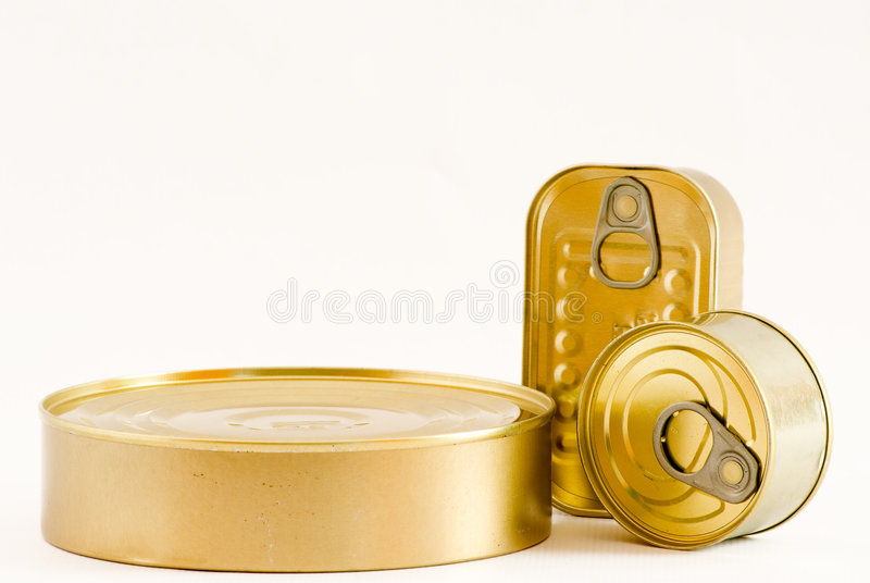 Conserve tinstins. Some conserve tins that you can use for food stock photo