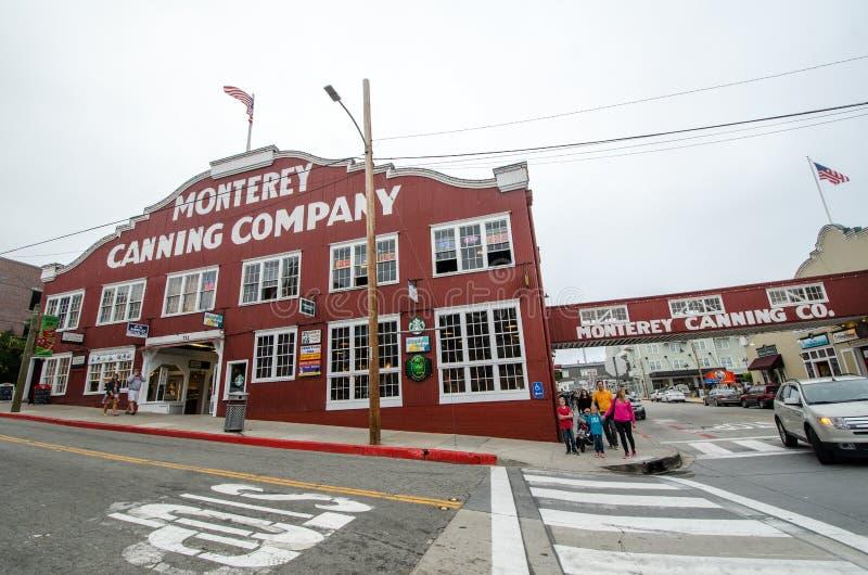 Conservenfabriekrij, een populaire bestemming voor Weg 1 toeristen, de winkels van de aanbiedingengift en restaurants royalty-vrije stock afbeelding