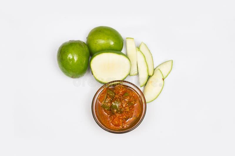 Conserves au vinaigre de mangue photos stock