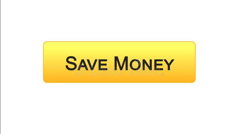 Conservi il colore arancio del bottone dell'interfaccia di web dei soldi, il servizio bancario online, il deposito illustrazione vettoriale