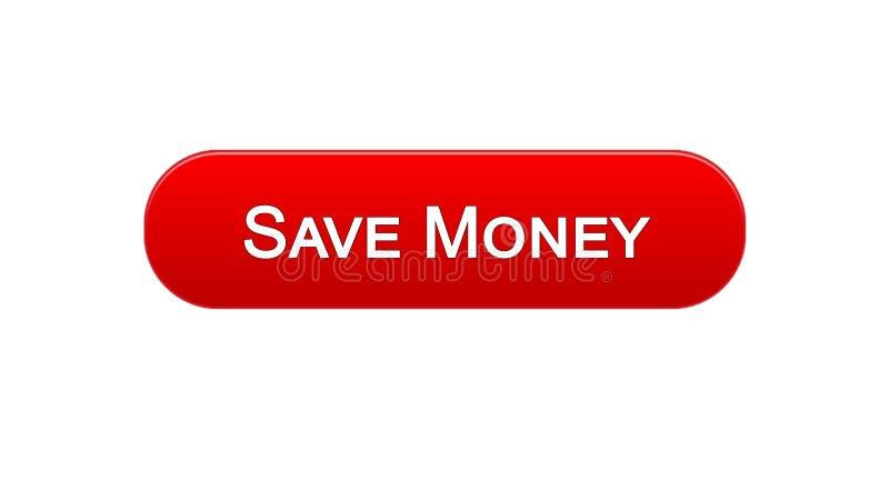 Conservi il colore rosso del bottone dell'interfaccia di web dei soldi, il servizio bancario online, il deposito royalty illustrazione gratis
