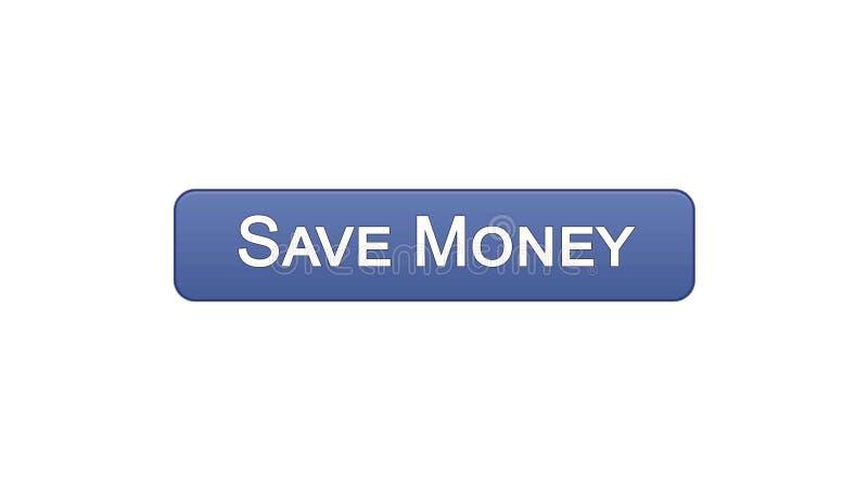Conservi il colore viola del bottone dell'interfaccia di web dei soldi, il servizio bancario online, il deposito royalty illustrazione gratis