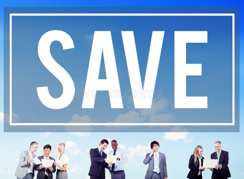 Conservi il concetto dei soldi di contabilità dell'economia di risparmio immagine stock