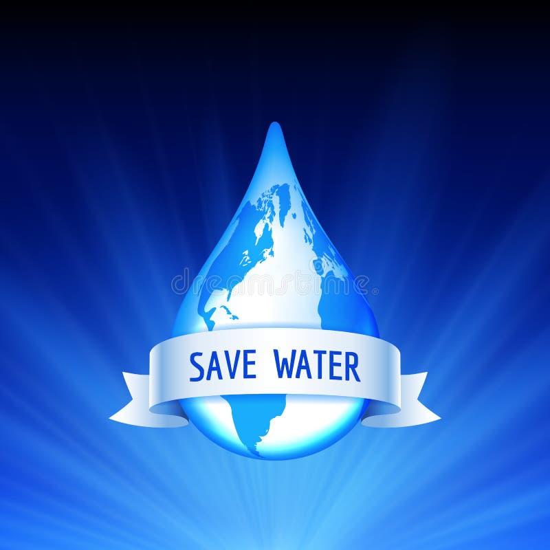 Conservi il concetto dell'acqua e della terra illustrazione di stock
