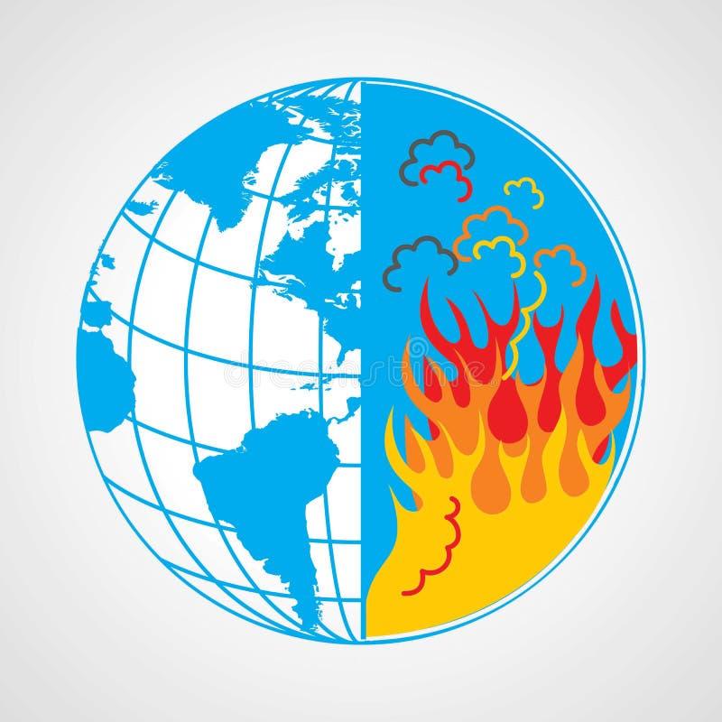 Conservi il concetto della terra di risparmi dell'acqua illustrazione di stock