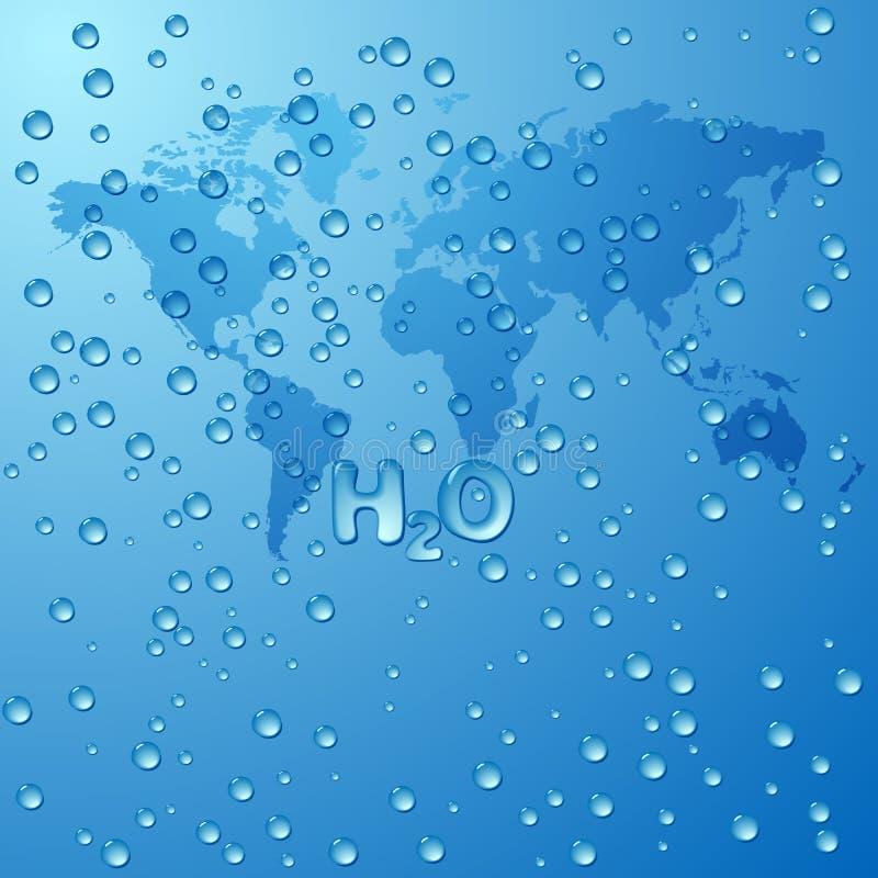 Conservi il fondo di concetto dell'acqua del mondo illustrazione vettoriale