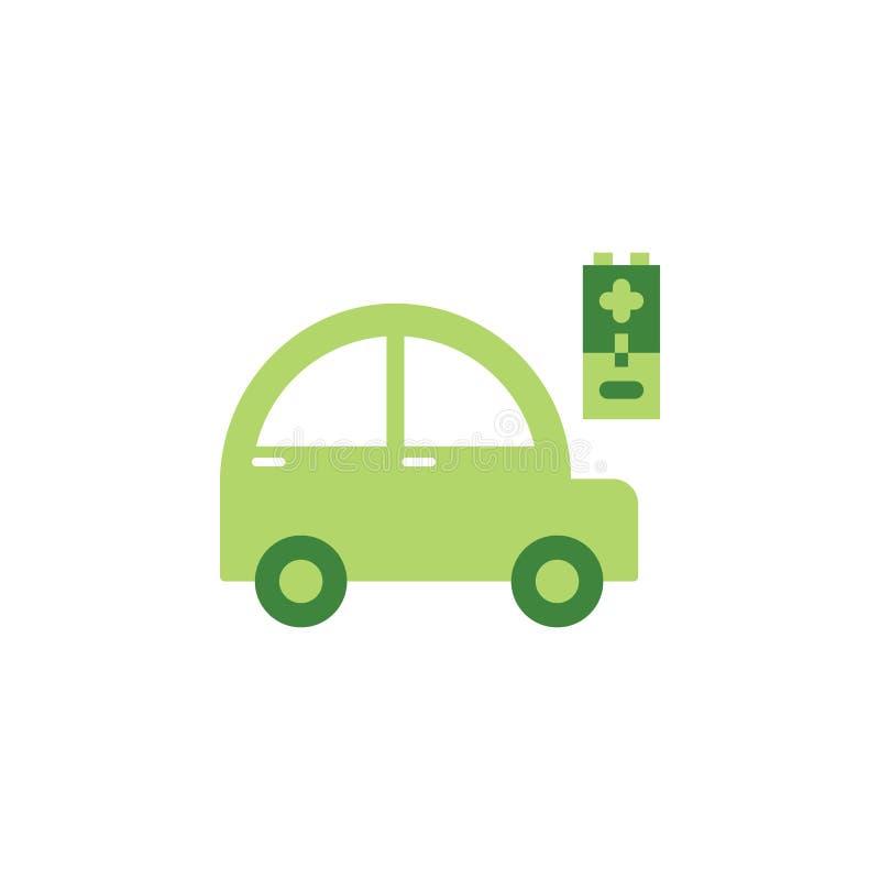 Conservi il mondo, icona colorata automobile Elementi dei risparmi l'icona dell'illustrazione della terra I segni ed i simboli po illustrazione vettoriale