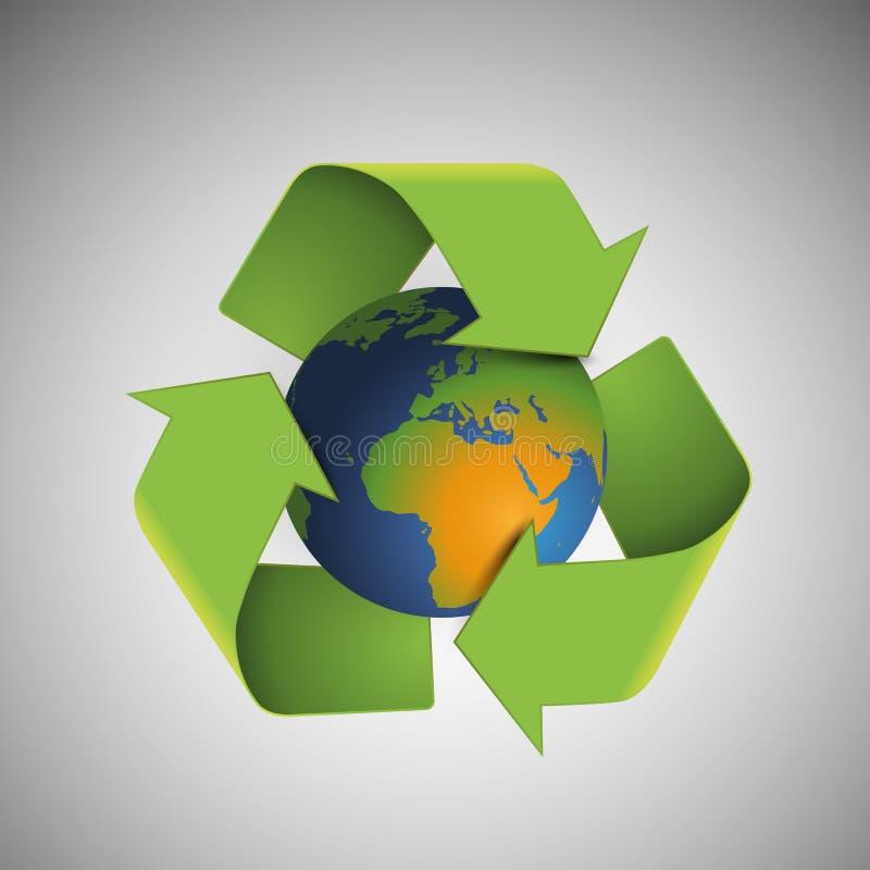 Conservi il mondo - pianeta rispettoso dell'ambiente royalty illustrazione gratis