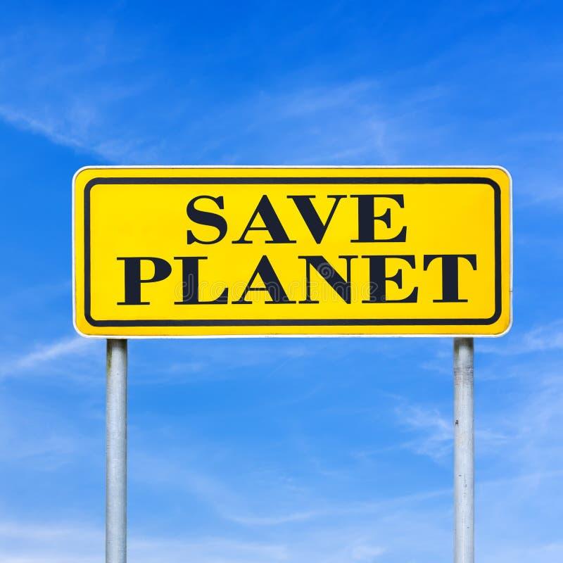 Conservi il pianeta fotografia stock libera da diritti