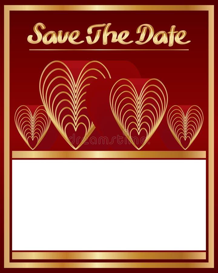 Conservi la decorazione di amore nove della data royalty illustrazione gratis