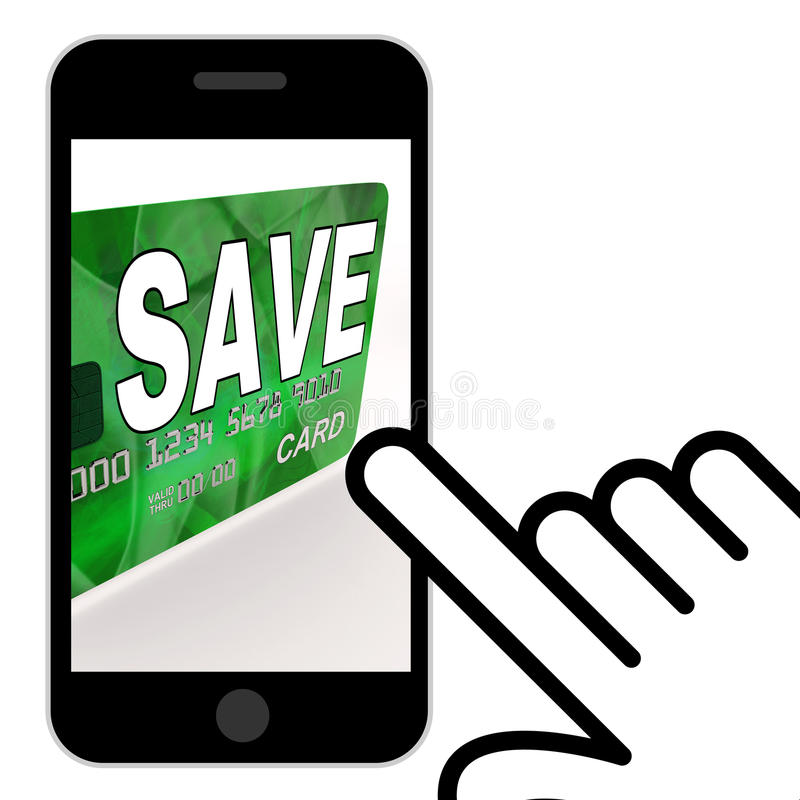 Conservi le esposizioni libretto di risparmio della carta assegni e le riserve dei soldi illustrazione di stock