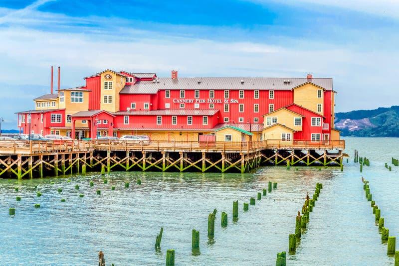Conservificio Pier Hotel e stazione termale immagini stock libere da diritti