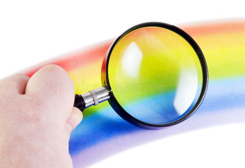 Considerando o arco-íris imagens de stock