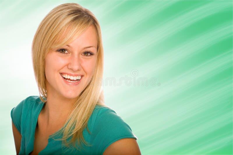 Consideravelmente louro com grande sorriso imagem de stock royalty free