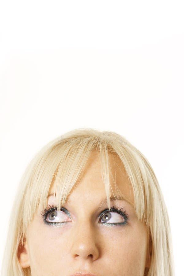 Consideravelmente pensamento do blonde fotos de stock royalty free