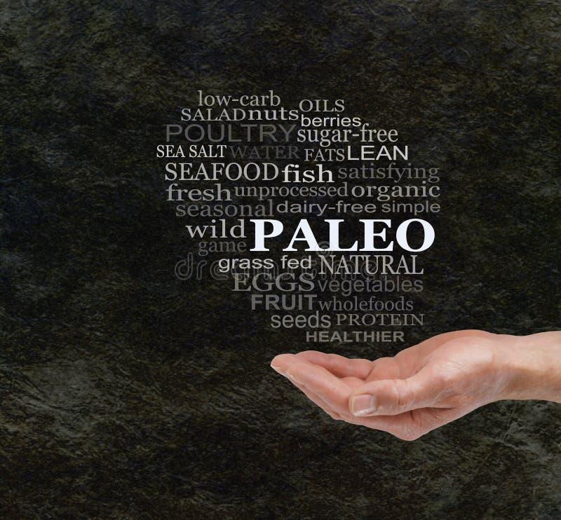 Consideri la dieta di Paleo fotografia stock