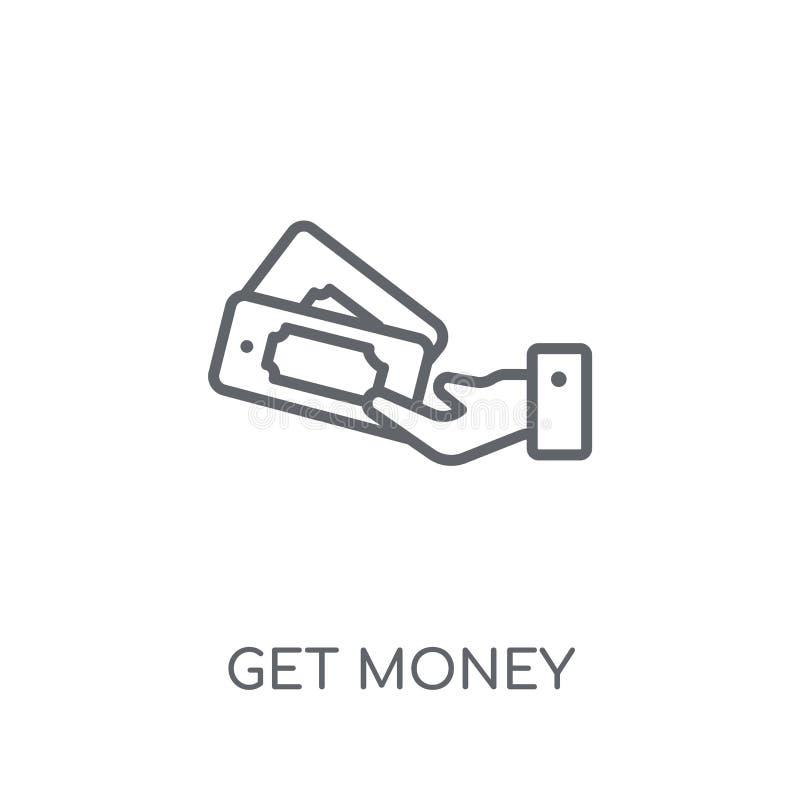 Consiga a dinero el icono linear El esquema moderno consigue concepto del logotipo del dinero encendido libre illustration