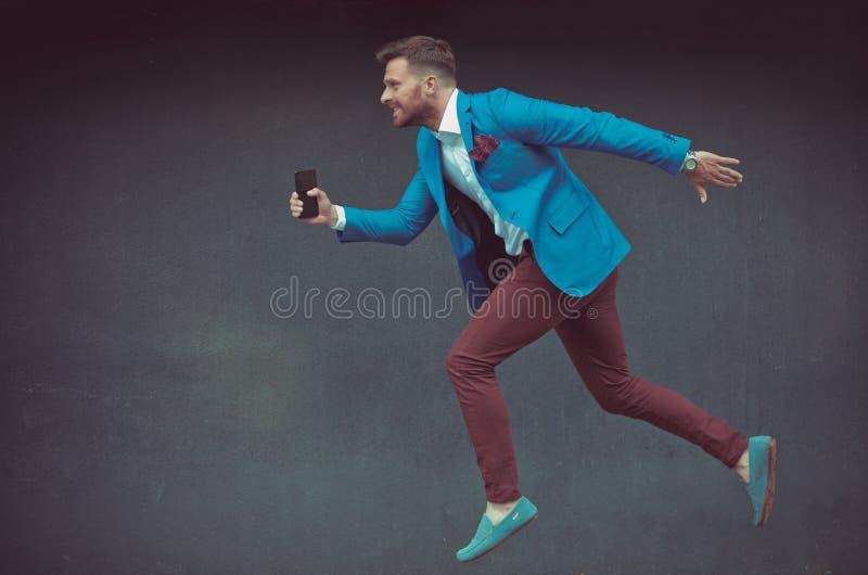 Consiga a grande elevação do sucesso e do salto foto de stock royalty free