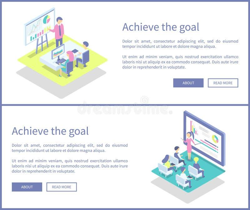 Consiga a ilustração do vetor dos cartazes do grupo dos planos do objetivo ilustração stock