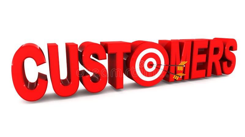 Consiga a los clientes stock de ilustración