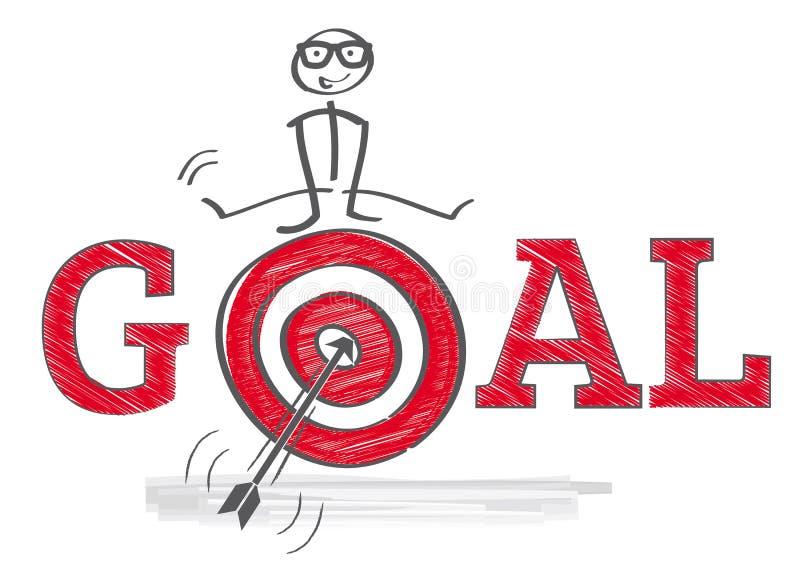 Consiga objetivos ilustração stock