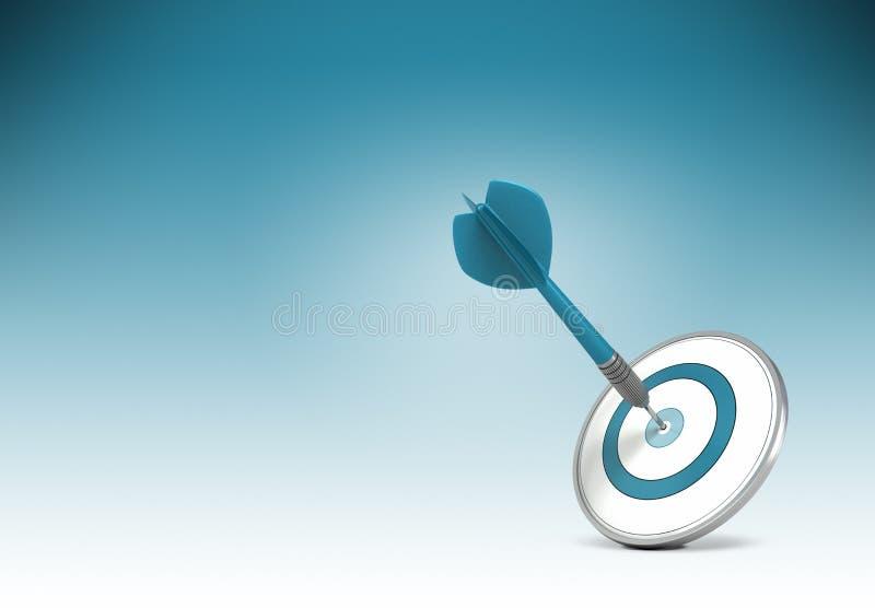 Consiga objetivos de negócios ilustração stock