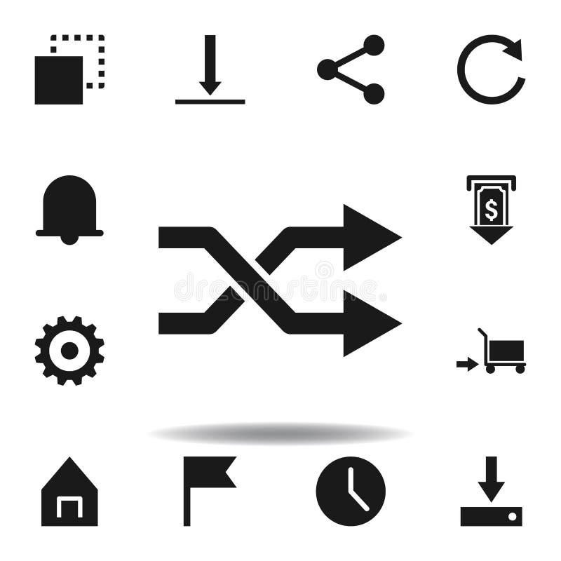 consiga para gerar o ?cone da causa ajuste dos ícones da ilustração da Web os sinais, símbolos podem ser usados para a Web, logot ilustração do vetor