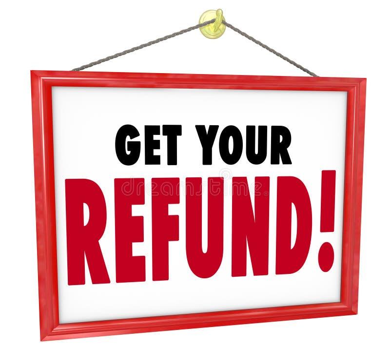 Consiga a su contable Tax Preparer de la vuelta del dinero de la muestra del reembolso detrás ilustración del vector